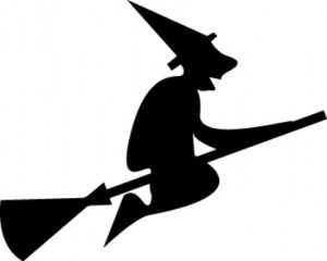 witch on broom web